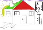 How to draw a 3D house.