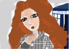 How to draw Cartoon Karen Gillian-Amy Pond