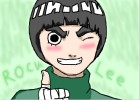 How to draw Rock Lee