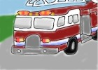 How to draw a fire truck