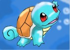 How to draw swimming pokemon:Squirtle