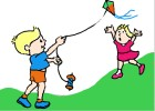 How to Draw Kids Flying a Kite