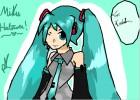How to draw Miku Hatsune