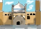 how to draw an mosque