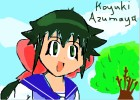 How to Draw Koyuki Azumaya from Keroro Gunso
