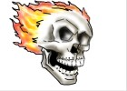 How to Draw Flaming Skull