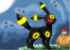 How to draw evil umbreon