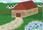How to Draw a Farm House