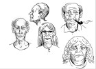 how to draw old people