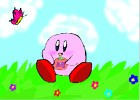 How to Draw Kirby in a Meadow