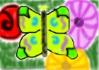 How to Draw a Butterfly Over Flowers