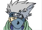 How to draw Kakashi