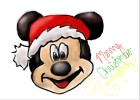 How to draw Christmas Mickey