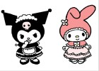 How to Draw Kuromi Maid and Friend