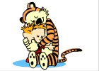 How to Draw Calvin And Hobbes Hugging