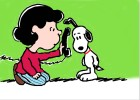 How to Draw Lucy and Snoopy on the Telephone