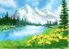 How to Draw Mountain Flowers