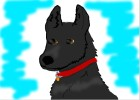 How to Draw a Solid Black German Shepherd