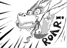How to draw manga- style dragon scene!