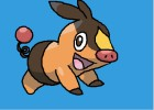 How to Draw Tepig Pokemon Character