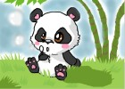 How to draw a cute cartoon panda