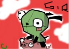 How to draw gir on a pig !