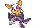 How to Draw Rouge The Bat