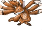 How to draw a nine tail fox