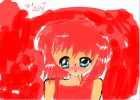 cute red lil manga girl