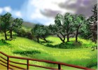 How to Draw a Country Landscape