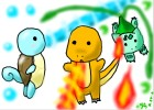 how to draw the kanto starters
