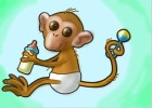 How to draw a baby monkey