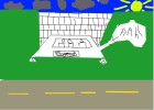 how to draw... a car crashing into a brick wall