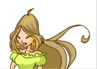How to draw Flora from Winx club