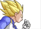 How to Draw Super Saiyan Vegeta from Dragon Ball Z