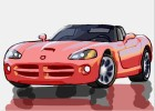 How to Draw a Dodge Viper Car