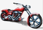 How to Draw a Chopper Motorcycle