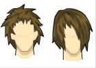 How to Draw Boy's Hair (2 styles)
