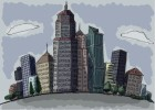 How to draw a city with buildings