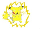 How 2 Draw Pikachu Using Thunderbolt