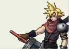 How to Draw Cloud from Kingdom Hearts