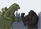 How to draw King Kong fighting Godzilla