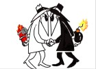 How to draw Spy vs Spy
