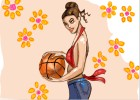 How to Draw a Girl Holding a Basketball