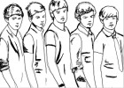 How to draw the boy band One Direction