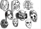 How to draw the band Slipknot