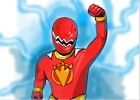 How to draw Power Rangers Dino Thunder - Red