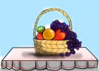 How to Draw a Fruit Basket On a Table