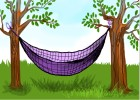 How to draw a Parachute hammock