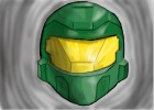 How to Draw a Halo Reach Helmet